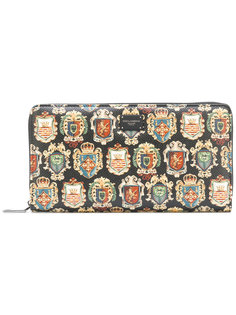 кошелек с принтом эмблем Dolce & Gabbana