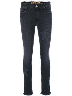 джинсы с бахромой  Dont Cry