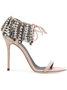 босоножки Carrie Crystal Giuseppe Zanotti Design