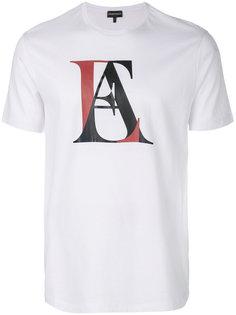 футболка с монограммой Emporio Armani