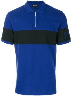 футболка-поло с контрастной полосой и логотипом Emporio Armani