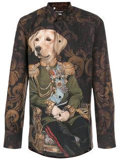 рубашка с принтом собаки Dolce & Gabbana