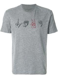 футболка с принтом рук John Varvatos