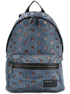 джинсовый рюкзак с принтом кошек Diesel