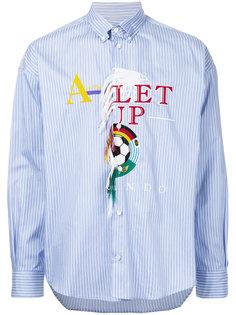 полосатая рубашка с вышивкой Doublet