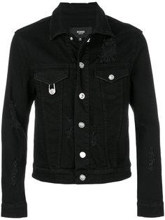 джинсовая куртка с эффектом потертости Versus