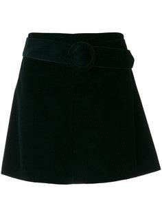 вельветовая юбка с поясом P.A.R.O.S.H.