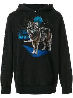 wolf print hoodie  Palm Angels