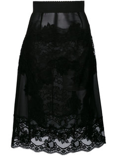 юбка с кружевной вставкой  Dolce & Gabbana