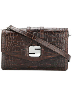 сумка на плечо с бляшкой-логотипом Serapian