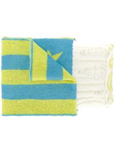 шарф со звездами и полосками с эффектом потерстости MSGM