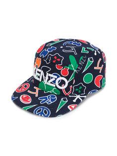 кепка с принтом логотипа Kenzo Kids