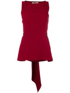 атласная блузка с завязкой  Chalayan