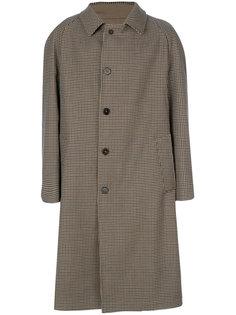 пальто Replica в ломаную клетку Maison Margiela
