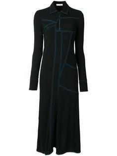 платье с контрастной строчкой  Marni