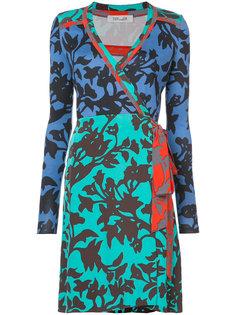платье с запахом и цветочным узором Diane Von Furstenberg