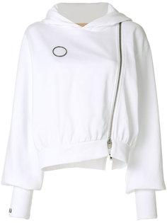 asymmetric zipped hoodie Ssheena