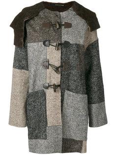 лоскутное пальто в елочку Maurizio Pecoraro