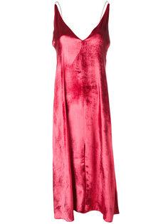 бархатное платье на бретелях Forte Forte