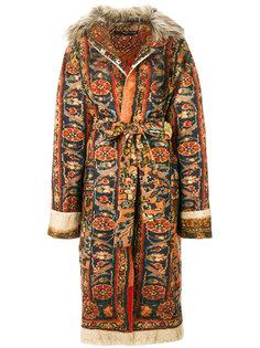belted carpet coat  Maurizio Pecoraro