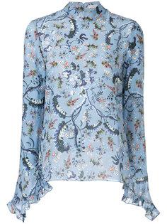 расклешенное платье миди с вышивкой  Erdem