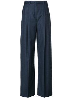 брюки с завышенной талией со складками  Jil Sander Navy