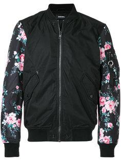куртка бомбер с цветочным принтом Diesel