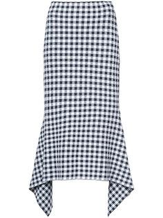 checked draped skirt  Rosetta Getty