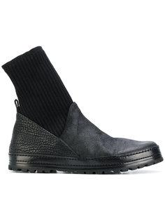 ботинки с тканой вставкой Marsèll