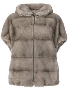 shortsleeved hooded fur jacket Manzoni 24
