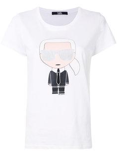 футболка с фирменным принтом Karl Karl Lagerfeld