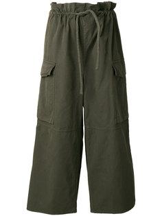 брюки в стиле милитари Mm6 Maison Margiela