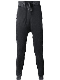 зауженные спортивные брюки с вышивкой 11 By Boris Bidjan Saberi