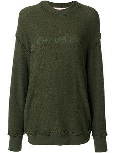 logo print sweatshirt Eckhaus Latta