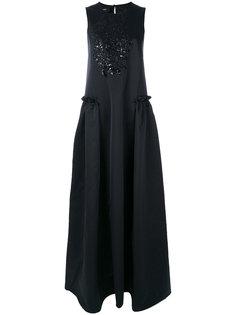 вечернее платье с вышивкой из пайеток Rochas