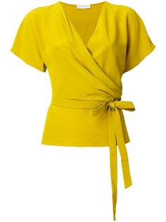 блузка с запахом и поясом Etro