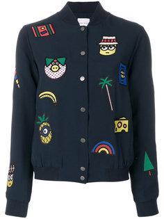 куртка-бомбер с вышивкой  Mira Mikati