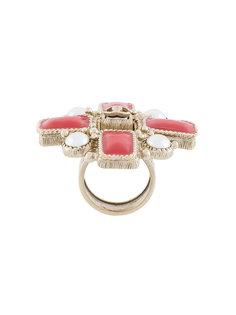 круглое кольцо с логотипом Chanel Vintage