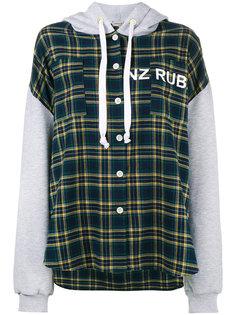 check panelled long sleeve hoodie Natasha Zinko