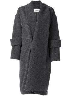 длинное пальто с двойными манжетами  Chalayan