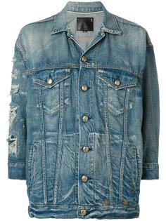 джинсовая куртка с рваными деталями R13