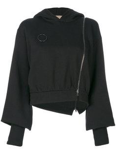 asymmetric zipper hoodie Ssheena