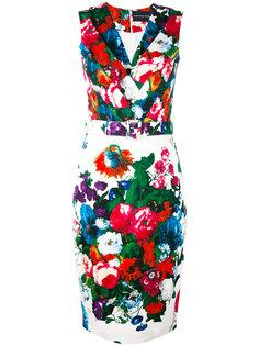 платье с поясом и цветочным принтом Samantha Sung