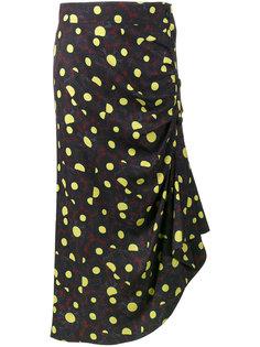 узорчатая юбка с оборками Marni