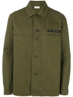 рубашка в стиле милитари Saint Laurent