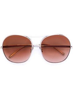 солнцезащитные очки в массивной оправе Chloé Eyewear