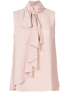 блузка без рукавов с оборками Alexander McQueen