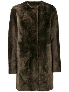 пальто на пуговицах с пушистой отделкой Drome