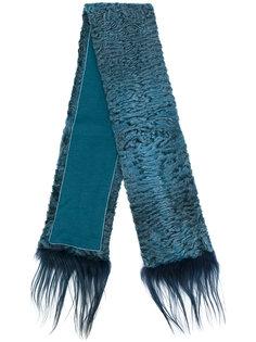 шарф с меховой отделкой Liska