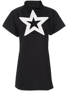 платье с вырезом в форме звезды KTZ